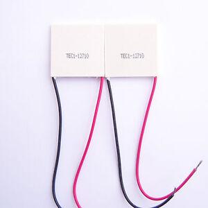 New-2-PCS-TEC1-12710-TEC-Thermoelectric-Cooler-Peltier-12V-40mm