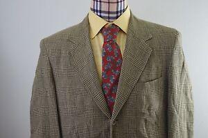 Banana Republic 100% Linen Glen Plaid Check Sz 40R Suit Jacket Blazer Sport Coat