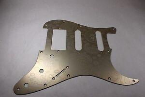 Gold-Anodized-Paisley-Aluminum-HSS-Strat-Pickguard-Fits-Fender-Stratocaster