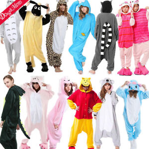 8e26f4bb9b Image is loading Unisex-Adult-Pajamas-Kigurumi-Cosplay-Costumes-Animal- Sleepwear-