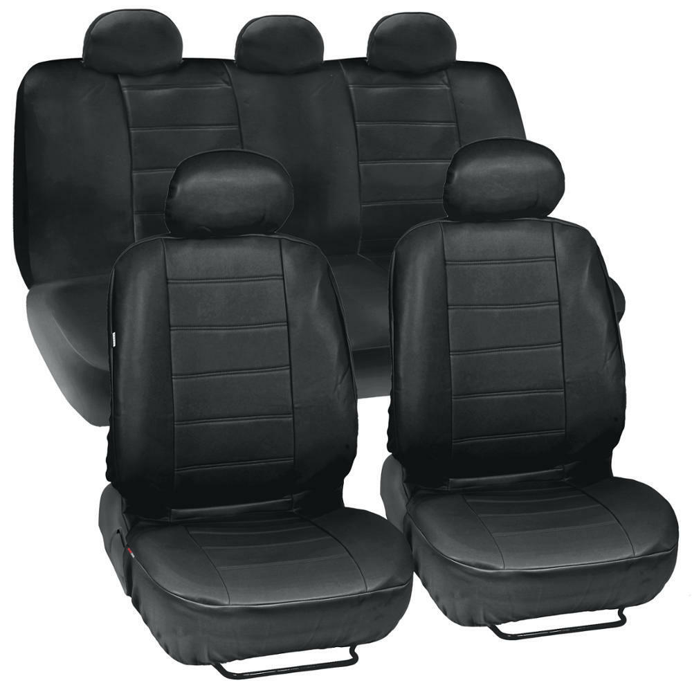 Black Leatherette Car Seat Covers}