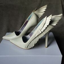 YRU Dollskill Angyl Heel White Pumps Shoes Angel wings New size 6