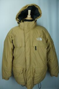 The North Face 550 Hooded 100% Goose Down Insuralted Beige Parka Sz XXL 2XL