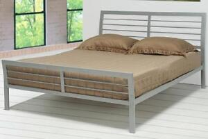 image is loading stoney creek casual silver finish queen iron bed - Queen Iron Bed Frame