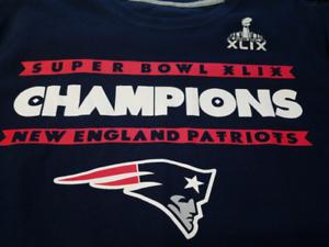73ebcb1bf New England Patriots Super Bowl XLIX 49 Champions Blue T-Shirt Size ...