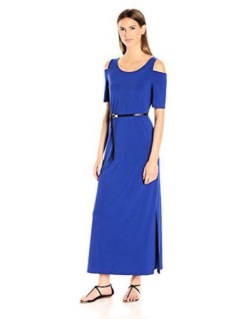 Nine West damen Dresses Cold Shoulder Maxi- Pick SZ Farbe.