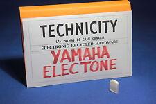 YAMAHA ELECTONE   - PLASTIC KNOB SLIDE ( WHITE )  FOR ELECTONE ORGANS - TESTED