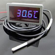 1pcs 12V DC F/C Blue LED Digital  Car Temp Meter Thermometer DS18B20 Sensor