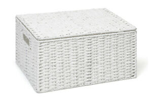 Storage-Basket-White-Extra-Large-Paper-Rope-Box-With-Lid-By-Arpan