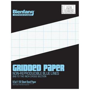 image is loading bienfang cross section 8x8 grid paper 50 sheet