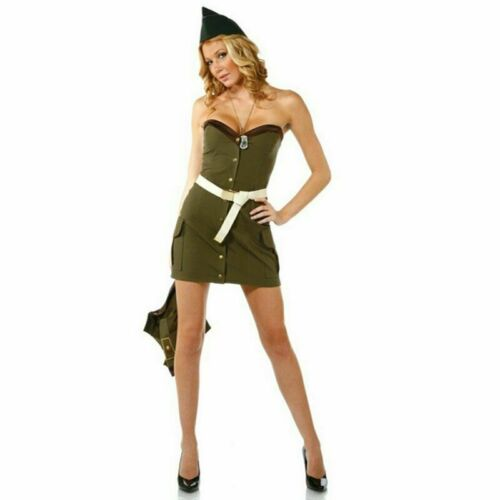 Women Military Uniform Costume Dress Miniskirt proper welcome for your soldier