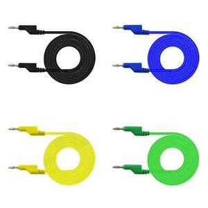 5Pcs-4mm-Dual-Banana-Plug-Smooth-Silicone-Lead-Test-Cable-Cord-1m-For-Multimeter