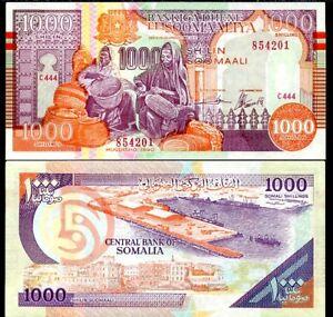 SOMALIA 1000 SHILLINGS 1990 P R10 UNC