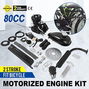 2 Stroke 80cc Motorized Bicycle Motor Engine Kit for Motorised Push Bike Full