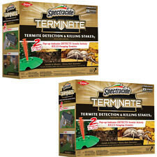 2 Pack Spectracide Terminate Termite Detection and Killing Stakes, New 15 Count