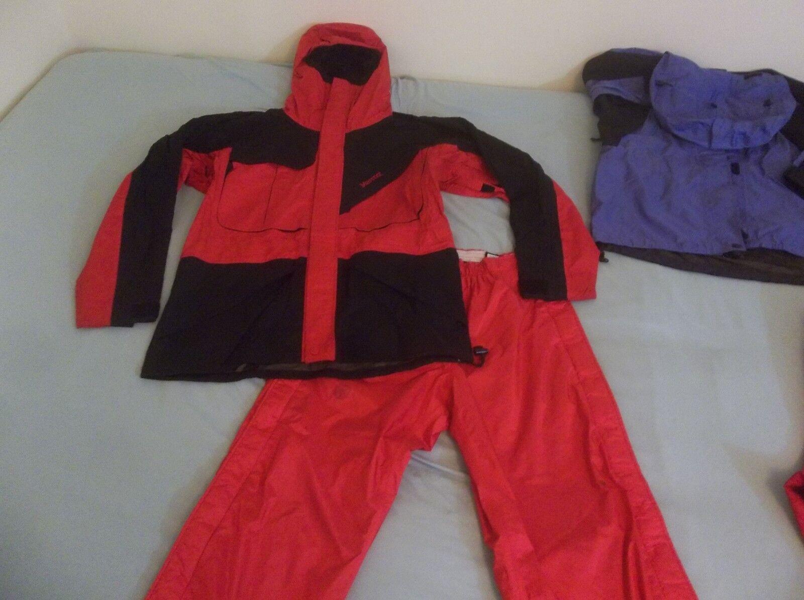 De Colección Chaqueta Marmot Original  Alpinista Escalada Gore-Tex Parka Abrigo y Pantalones Rojo  bienvenido a elegir