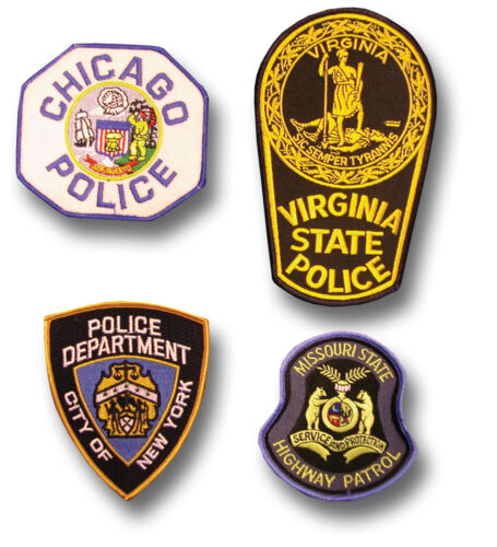 PATCH 1 GENUINE US STATE CITY POLICE CLOTH BADGE