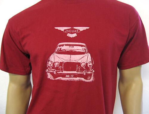 JAGUAR MK10 T-shirt classique marque x 420g Saloon de 1961-72 3 Couleurs 5 Tailles