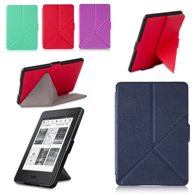 TEXTURED ORIGAMI STAND CASE COVER FOR KINDLE PAPERWHITE (2012-2016)