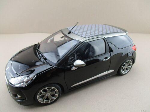 2012 Citroen ds3 cabrio en negro norev escala 1:18 OVP nuevo
