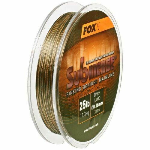 FOX SUBMERGE SINKING BRAID MAINLINE 300M SPOOL BREAKING STRAIN CBL008