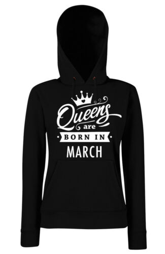 souhait MOIS Taille XS-XXL Trvppy femmes Hoodie capuche Queens are born in