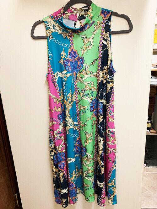 New Julian Chang Florida Cindy Paisley Multi colGoldt Woherren Dress