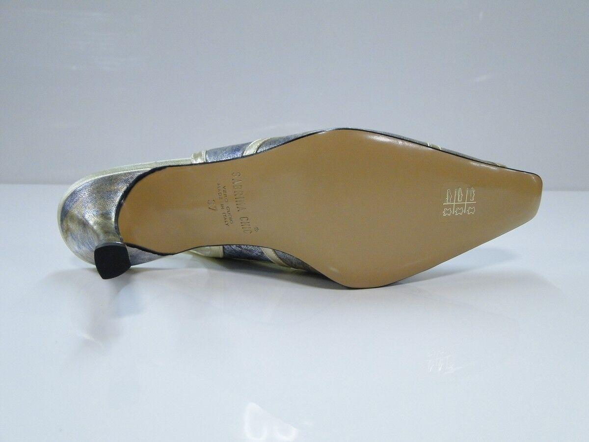 Sabrina Heel Chic Womens Metallic/Gold Slingback Heel Sabrina Shoes - (2781-PPO) 200e52