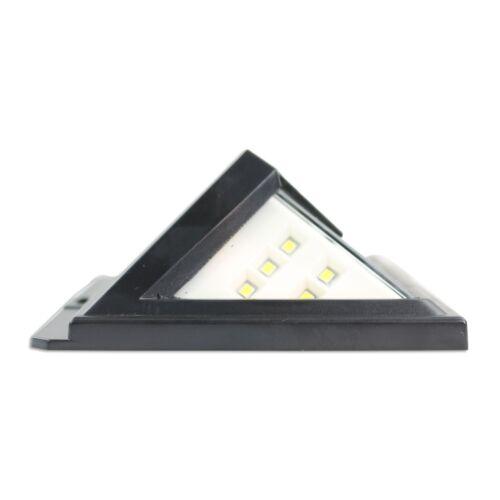 2 Pack Leisure LED Solar Powered 46 LED 3D Wide Angle Motion Sensor Light Black