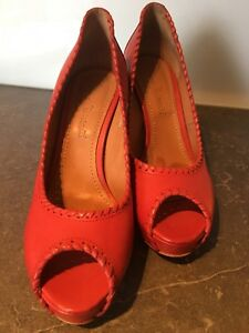 Rossano-Bisconti-wunderschoene-sexy-rote-Peep-Toes-fuer-den-Sommer-Gr-38-5
