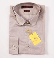 $350 Etro Milano Superfine Beige Cotton Shirt 37/s Button-front + Gift Box