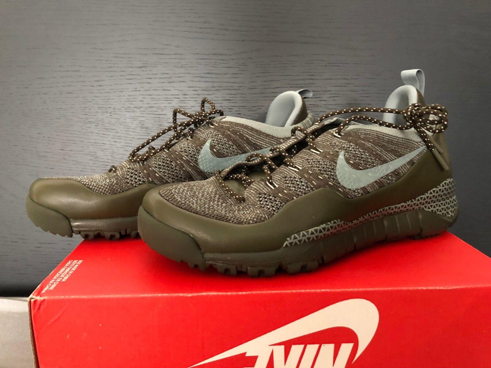 Nike lupinek flyknit low-verde-caqui - 882685-300 - UE 44 us 10-nuevo