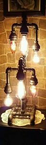 Handcrafted-Industrial-Pipe-Tiered-Home-Table-and-Desk-Lamp-steampunk-style