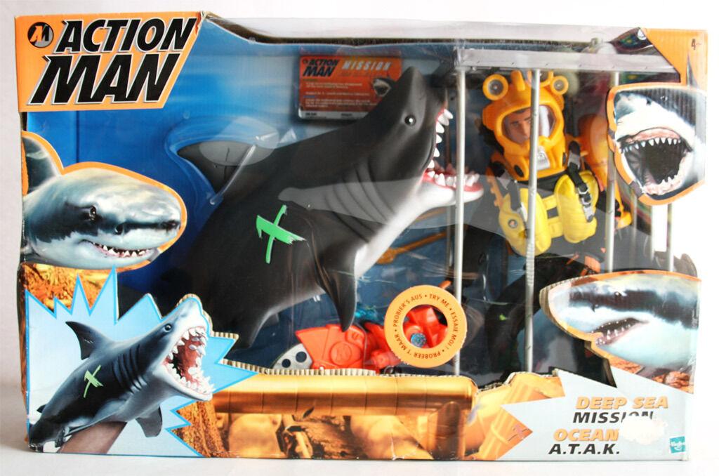 VERY RARE 2000 2000 2000 ACTION MAN DEEP SEA MISSION OCEAN ATAK SHARK HASBRO NEW MISB 6cb7ba