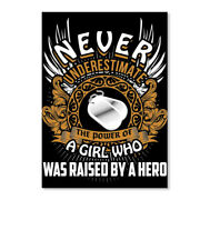 The Power Of A Veterans Daughter Never Underestimate Girl Who Sticker Portrait