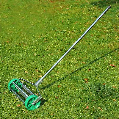 Outdoor Garden Lawn Aerator Heavy Duty Rolling Grass