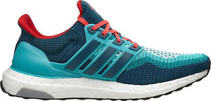f3bee0452 Adidas Ultra Boost 2.0 Teal Red White Size 9. AQ4005 NMD Yeezy ...