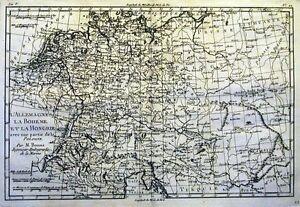 Antique-map-L-039-Allemagne-La-Boheme-et-La-Hongrie-partie-de-la-Pologne