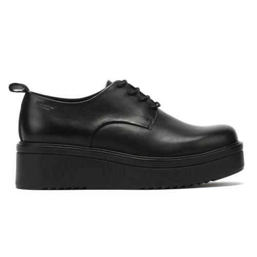 Vagabond Tara Leather Womens Black Shoes Ladies Casual
