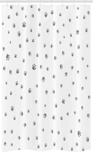 Tier Foot Prints Hundeliebhaber Schmaler Duschvorhang