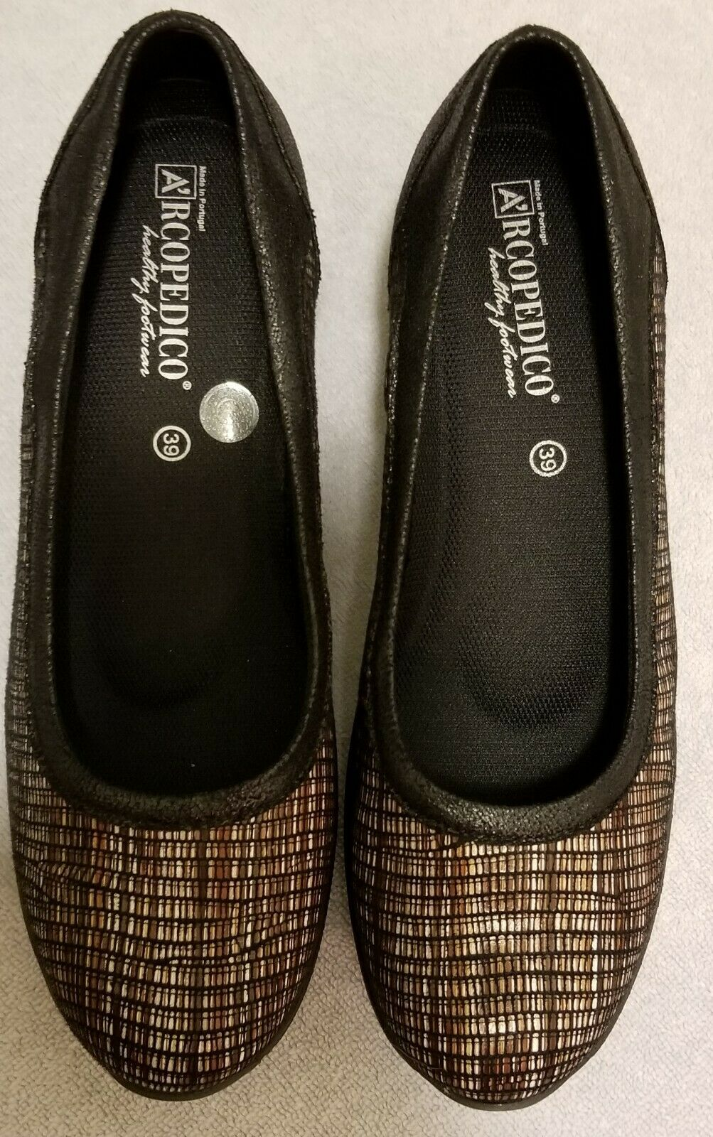 New Arcopedico R10 Vegan-Friendly Black Flats shoes 4183 Sz EU 39 US 8 - 8.5