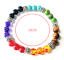 miniature 2 - 7 Chakra Healing Natural Stone Round Gemstone Yoga Energy Beads Bracelet Jewelry