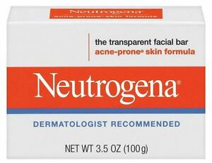 Neutrogena Acne Prone Skin Formula Facial Bar 3.50 oz (Pack of 3) Maximum Anti-Fatigue Concentrate (Salon Size) 1.07oz