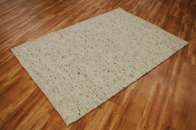 Handweb Tapis Lüneburg gris chiné 100/% laine vierge beige