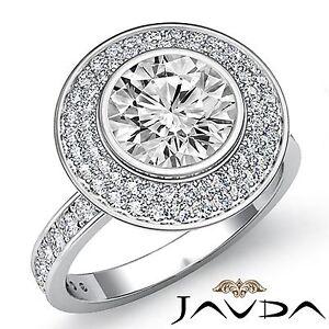 Classic-Round-Diamond-Halo-Bezel-Engagement-Ring-GIA-F-SI1-14k-White-Gold-1-75ct