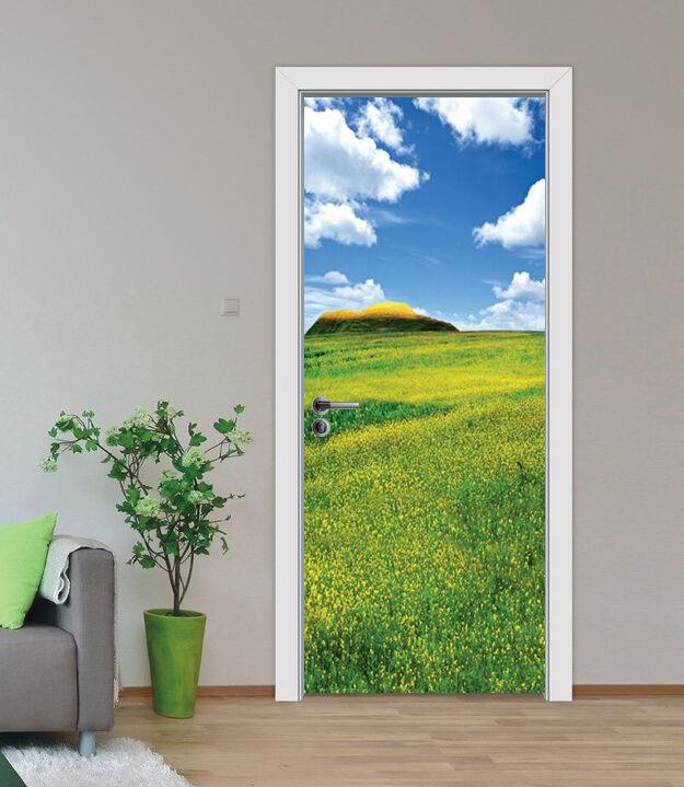 3D Blaumenfeld 81 Tür Wandmalerei Wandaufkleber Aufkleber AJ WALLPAPER DE Kyra