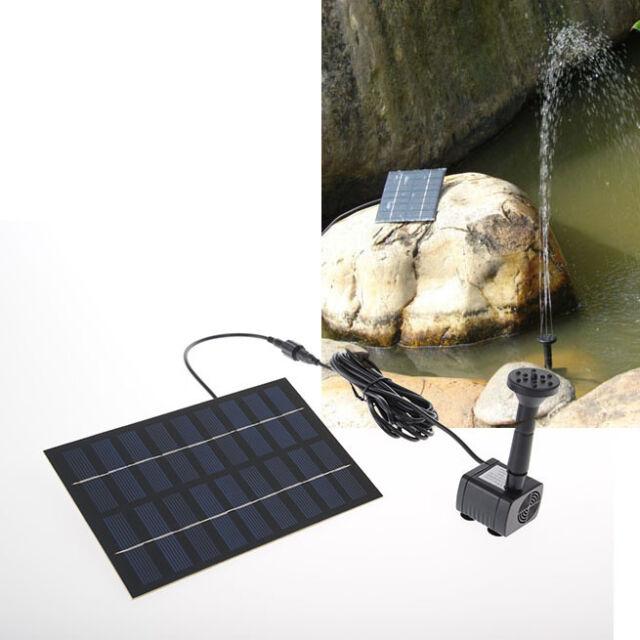 9V/1.8W Solar Power Garden Fountain Pond Pool Water Pump Kit Yard Decor CE RoHS