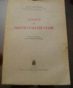PRL-ANTIQUE-BOOK-RARO-1958-LIBRO-ANTICO-LEZIONI-DI-DIRITTO-FALLIMENTARE-LIVRE