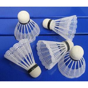 6 Stuecke Weisse Federbaelle Feder Baelle Badmintonbaelle Bälle