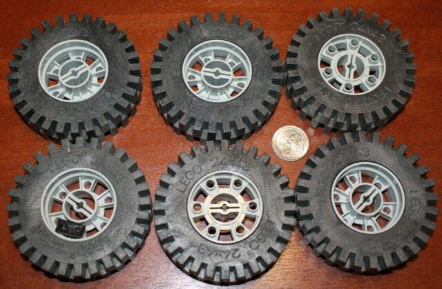 LEGO 3x Lot of Black Vintage Technic 17x43 Tires Wheels 6941 6950 6952